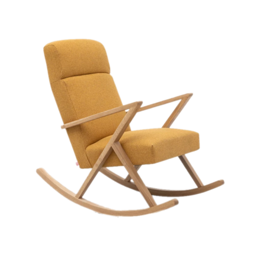Fotel bujany Retrostar Lounge Rocker Basic Yellow