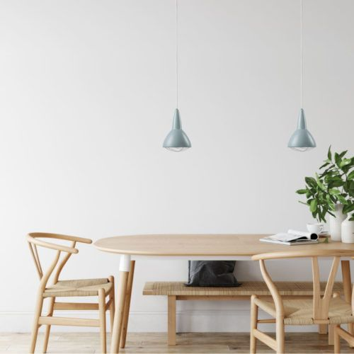 Cph Lighting Grid North Blue at dining table