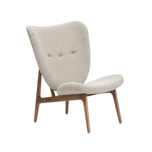 Norr11 Elephant lounge chair fully upholstered smoked oak Barnum 3 front
