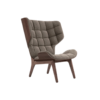 Mammoth Chair Dark Stained Velvet Taupe