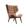 Mammoth Chair Dark Stained Vintage Leather Camel