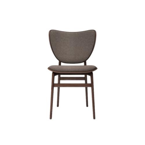 Elephant Dining Chair Dark Stained Wool Fawn