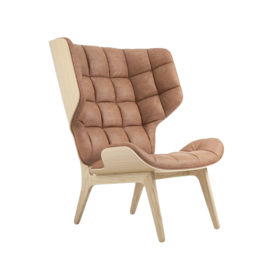 Fotel Mammoth Chair with leather od Norr11