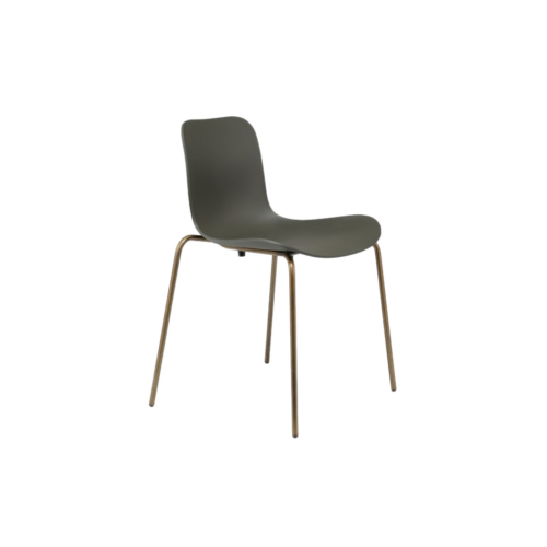 Norr11 LaNorr11 Langue chair steel brass army green 1ngue chair steel brass army green 1