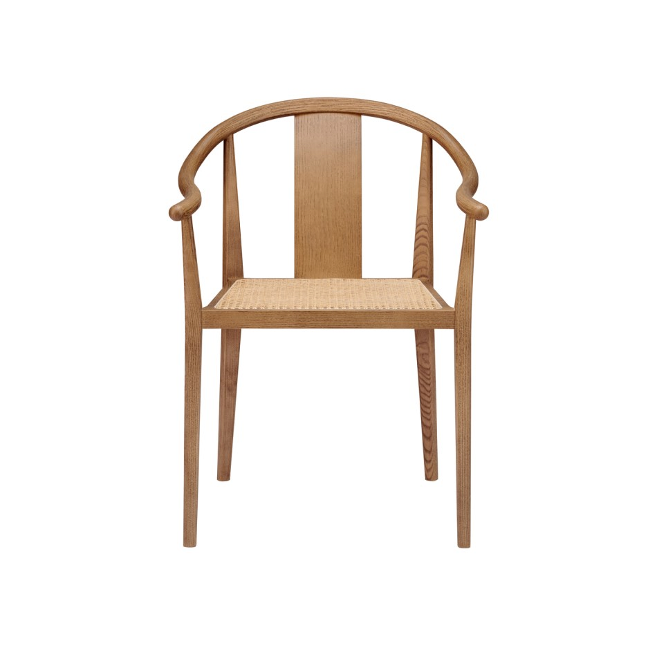 Norr11 Shanghai Dining Chair Smoked Rattan Nature