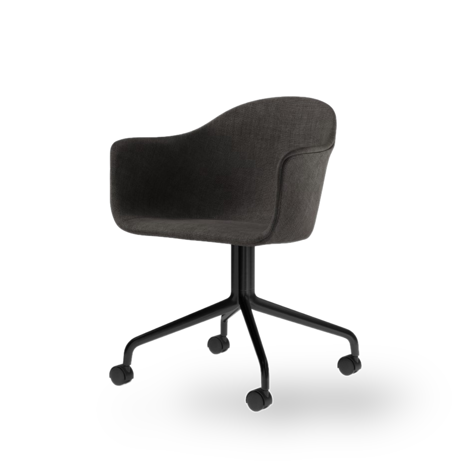 Menu Harbour Dining Chair Starbase w Casters Canvas 154 Black Angle 00