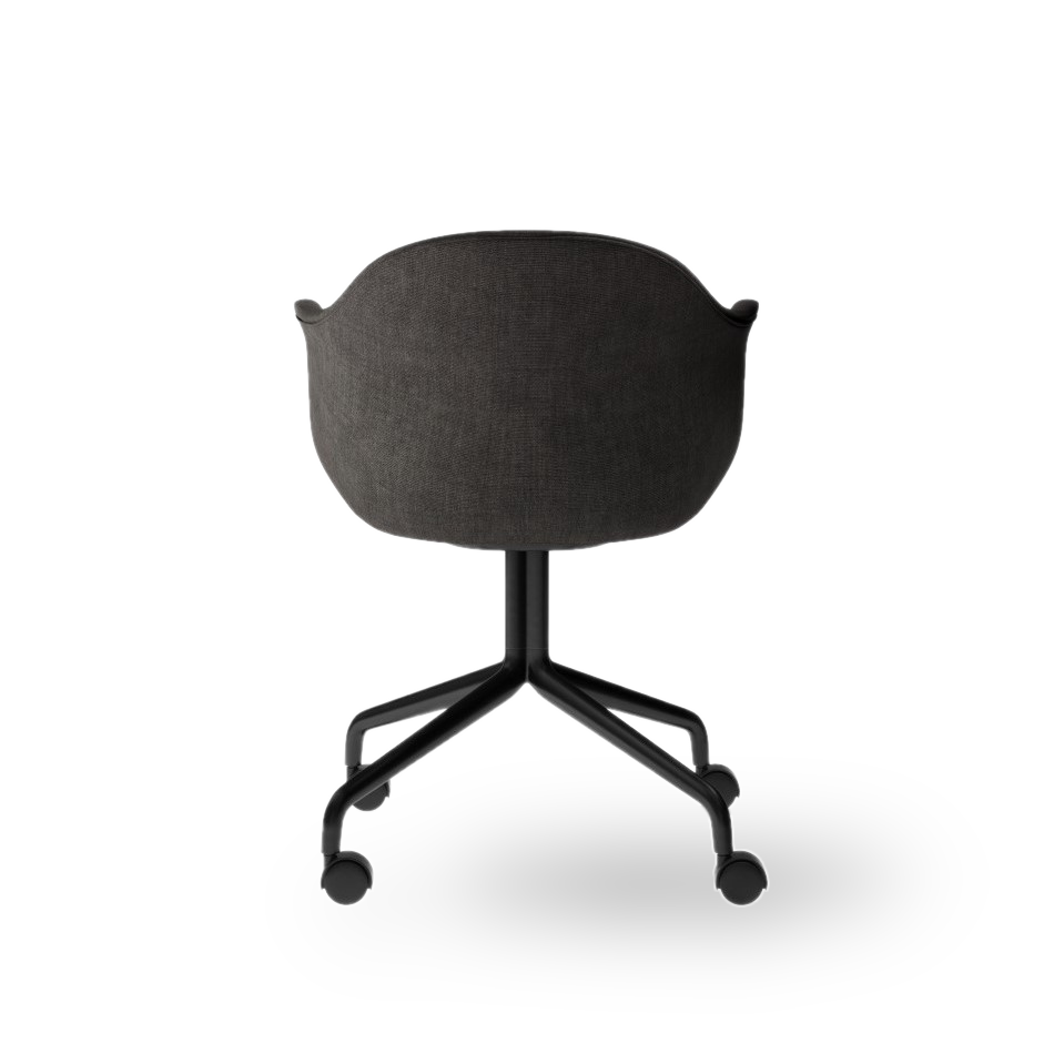 Menu Harbour Dining Chair Starbase w Casters Canvas 154 Black Angle back 00