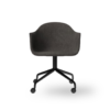 Menu Harbour Dining Chair Starbase w Casters Canvas 154 Black Angle front 00