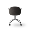 Menu Harbour Dining Chair Starbase w Casters Canvas 154 Chrome Angle back 00