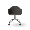 Menu Harbour Dining Chair Starbase w Casters Canvas 154 Chrome Angle front 00