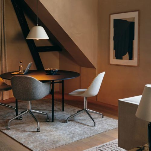 Menu Harbour Dining Chair table and lamp