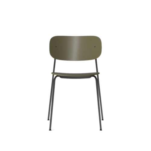 1189004_Co_Dining_Chair_Olive_Plastic_Olive_Plastic_Black_Steel_Front